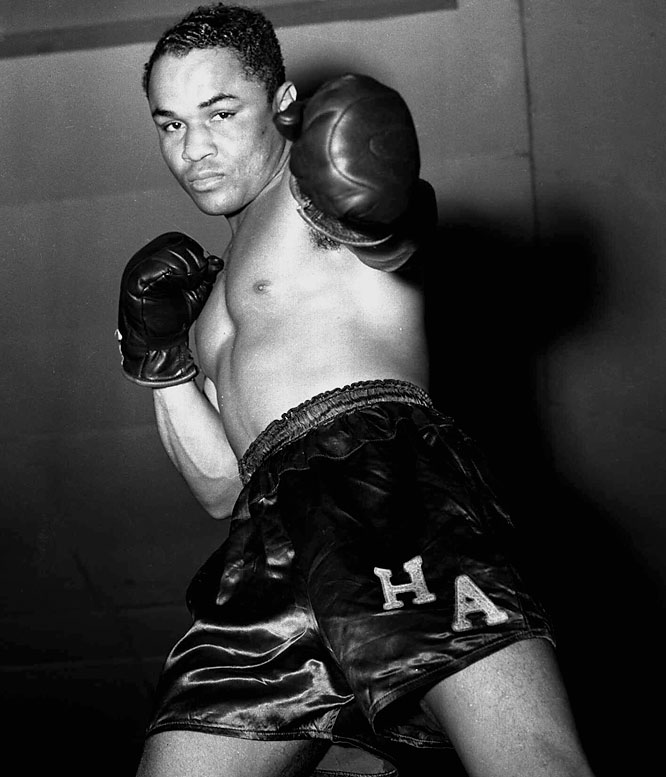 """There's a case to be made that """"Homicide Hank,"""" who in the late 1930s held the featherweight, lightweight and welterweight titles simultaneously, was the greatest ever, pound-for-pound, but his best work was at welterweight. Still, the fighter known as """"Little Perpetual Motion"""" for his ferocious attacking style, deserves a prime spot among the 135-pounders."""