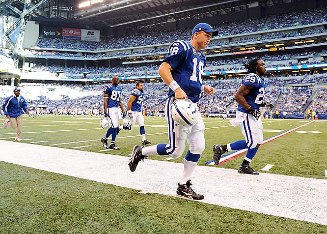 Manning has the Colts undefeated and on a 17-game regular season winning streak heading into this weekend's showdown with New England.