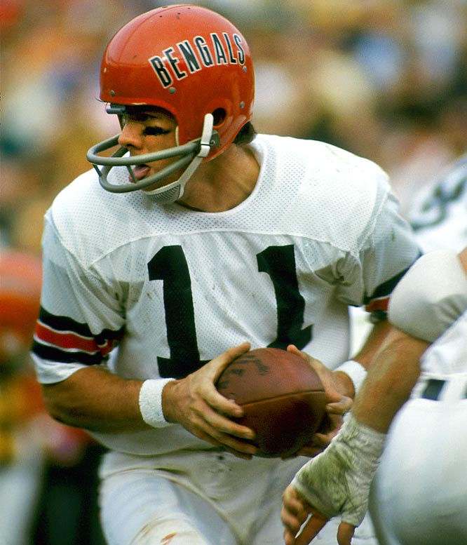 The Bengals and quarterback Virgil Carter were 1-6 midway through the first season after the NFL/AFL merger, but didn't lose the rest of the way, taking the AFC Central at 8-6. The closest they've come to matching the streak of late was a six-game run by Ickey Woods and the gang to open 1988, which was snapped by a 27-21 loss to the Patriots that wasn't that close.