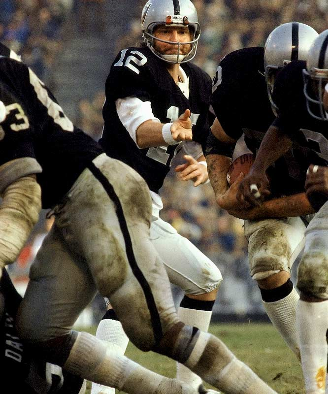 The Raiders began their first Super Bowl-winning season with three wins before being upset by the Patriots. Ken Stabler, Mark Van Eeghen & Co. didn't lose again, including in their final 10 regular season games. The narrowest margin of victory during the run, 28-27 over Walter Payton and the Bears on the strength of a 49-yard TD pass from Stabler to Cliff Branch in the fourth quarter with an Errol Mann PAT.