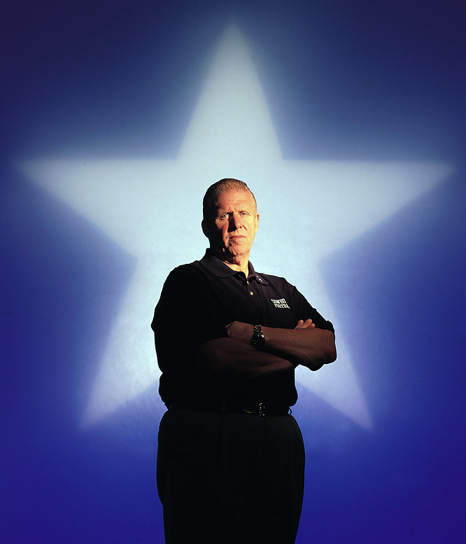 Parcells poses for a photo during his first season with the Cowboys.