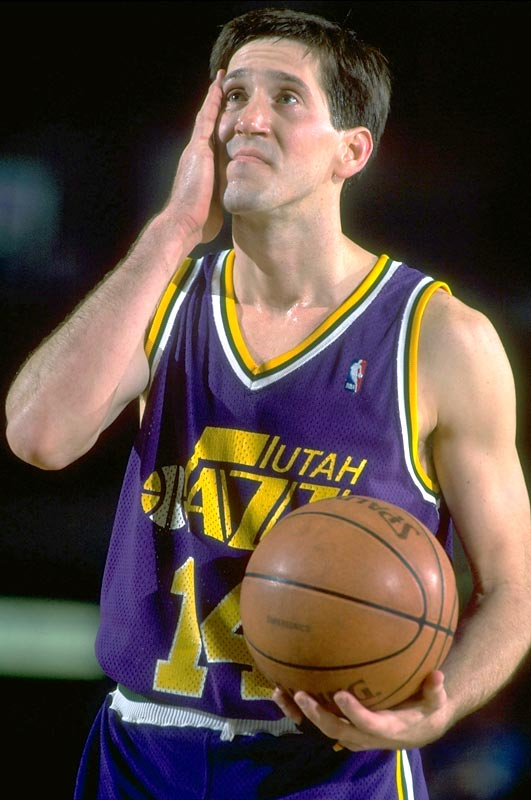 Utah's Jeff Hornacek sets an NBA record by sinking all eight of his three-point field goal attempts during the Jazz' 113-103 home win over Seattle. Hornacek scored a career-high 40 points and broke the previous mark held by Portland's Terry Porter and  Seattle's Sam Perkins.