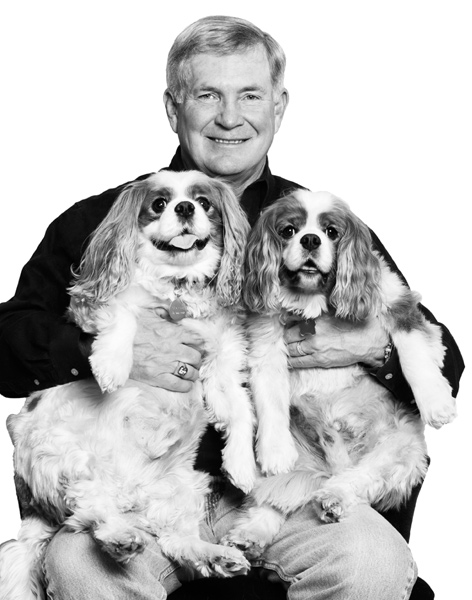 The following photos are from award-winning photographer David Woo's book ''Top Dogs and Their Pets.'' The book features a collection of athletes, politicians and entertainers posing with their pets. The answers below are from the pets' owners. I chose my pets' names because: Crockett -- Davie Crockett came from Tennessee too. Charlie -- Charlie Brown is Sally Brown's brother.If I could change one thing about my pets, it would be: Not a thing. They are characters, but in a great way.My pets' worst habits are: Eat too much.Behind my back people refer to me and my pets as: Dogs are too big.I wish my pets could: Lose some weight.Nobody knows my pets are: Cavalier King Charles.My pets' best assets are: So friendly.If I had to choose a different pet, it would be: Yellow Lab.My pets' favorite treat would be: They love all treats.My favorite time of the day to spend with my pets are: At home at night.