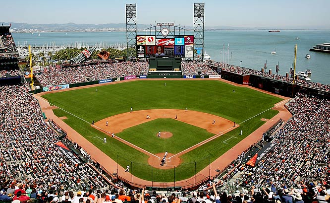 Famous for splash-down home runs in San Francisco Bay and garlic fries, AT&T Park was the first privately financed ballpark in Major League Baseball in nearly 40 years when it opened in 2001. Blessed with breathtaking vistas of San Francisco and fan-friendly features, this place is a huge improvement over the Giants' old home, Candlestick Park.