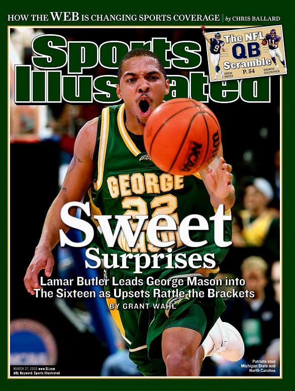 George Mason's 2006 Cinderella run was the most magical NCAA tournament performance by any team. The 11th-seeded Patriots went from unknowns to America's Team in a matter of two weeks, pulling off a string of upsets -- over No. 6 Michigan State, No. 3 North Carolina, No. 7 Wichita State and No. 1 UConn, in overtime -- that gave hope to little guys everywhere that they could become the Next George Mason. Their Elite Eight win over the Huskies, who had four NBA players on the floor (Rudy Gay, Marcus Williams, Josh Boone and Hilton Armstrong), was the Patriots' defining moment.