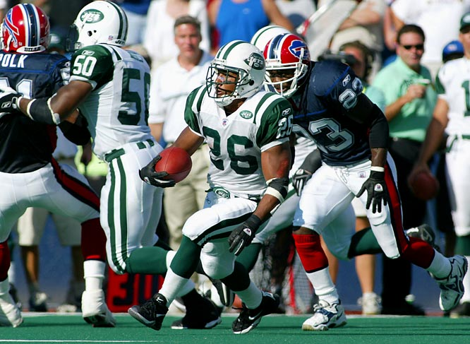 In the season opener, the Jets' Morton ran back two kick returns for a touchdown, including a 96-yarder in overtime to lift New York past Buffalo 37-31. Morton became the second player to return an OT kickoff for a score and the first player with kick-return touchdowns in both regulation and the extra period.