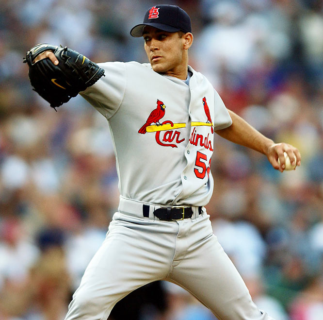 The Cardinals' left-hander threw a no-hitter against the Padres on Sept. 3, 2001, the highlight of a year in which he went 6-3 with a 3.83 ERA and finished fourth in the NL Rookie of the Year voting. But he won just one more game the rest of his career and was out of the majors for good by age 22.