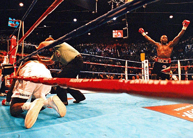 """Rahman was a one-hit wonder -- literally. With what Lennox Lewis called a """"lottery punch,"""" the 20-1 underdog Rahman knocked out Lewis to claim the WBC and IBF heavyweight titles in April 2001. Seven months later, Lewis avenged the loss with a fourth-round knockout. But Rahman walked away with a $10 million payday for his troubles."""