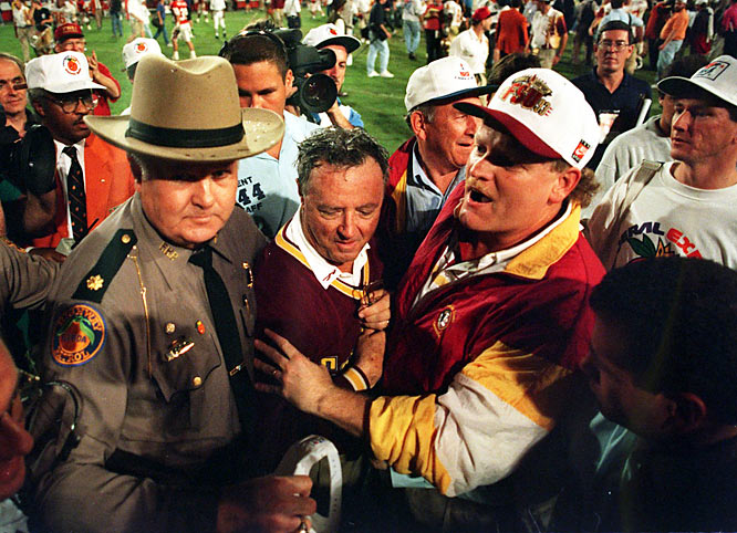 Bowden and quarterback Charlie Ward lead the Seminoles to an 18-16 win over  Nebraska to claim the school's first national championship.