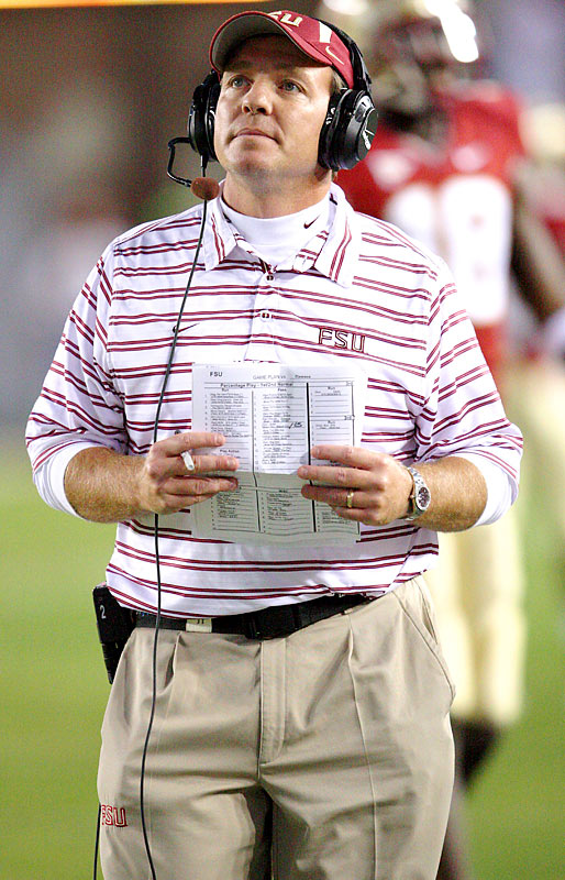 Offensive coordinator Jimbo Fisher is named as Bowden's successor. As part of the deal, Fisher will receive $5 million if he is not FSU's head coach by January 2011.