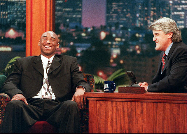 Before Kobe Bryant became an NBA legend, he made his first appearance with Leno at age 17.