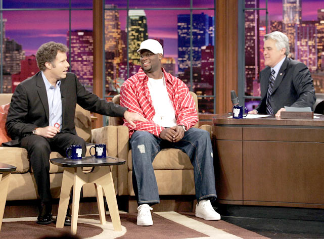 After leading the Longhorns to the national championship, Vince Young speaks with Leno and longtime USC fan Will Ferrell, whose Trojans lost to Young's Texas squad.