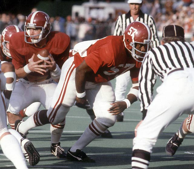 Center Dwight Stephenson played on some of coach Bear Bryant's best Alabama teams, including national title winners in 1978 and 1979.
