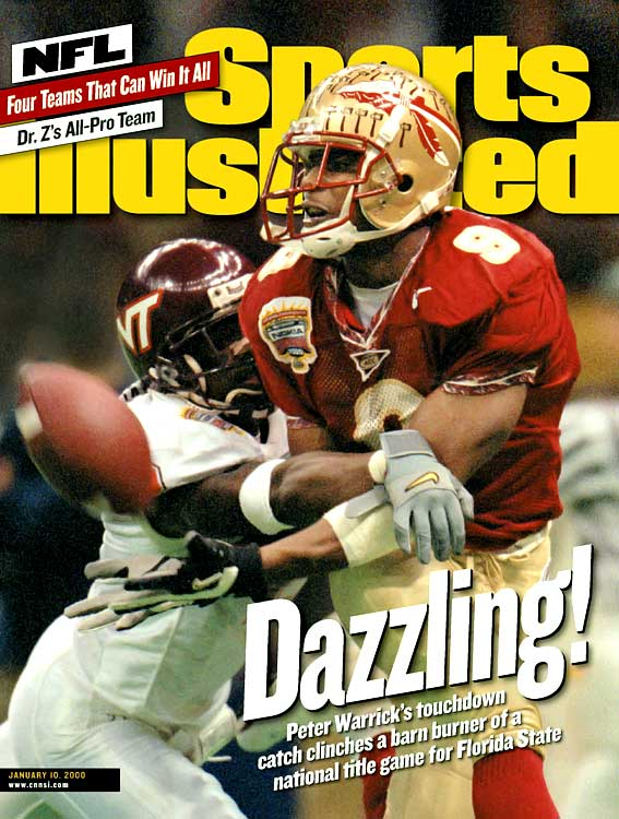 Peter Warrick may have missed a few games for getting a deep discount at a Tallahassee department store, but he returned to help the 1999 Seminoles go wire-to-wire at No. 1.