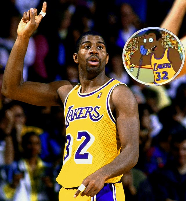 """Episode: Homer Defined  First aired: Oct. 17, 1991    Memorable Moment   After Homer saves the Springfield Nuclear Power Plant from a meltdown by luckily guessing which button to press, he receives a phone call from Magic Johnson during a Lakers game.   Magic:  """"Is this really Homer Simpson?""""  Homer:  """"Yeah!""""  Magic:  """"Wow.  Homer, I just used our last timeout to call and congratulate you on averting that nuclear holocaust."""""""
