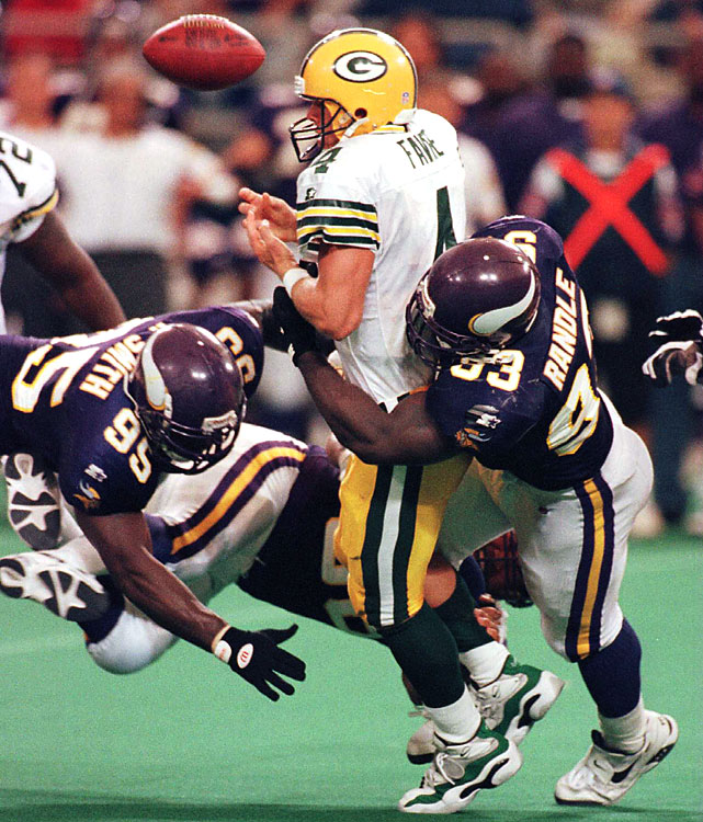 Originally signed by the Vikings as an undrafted free agent, Randle amassed 137.5 career sacks -- which includes eight consecutive 10-sack seasons (1992-99) and a ninth in 2001. In 1997, Randle posted a career-best and league-leading 15 1/2 sacks, and career-high 71 tackles (39 solo). With Minnesota and Seattle, Randle -- a seven-time Pro Bowler -- was named first-team All-Pro/All-NFC six consecutive years (1993-98) and once All-AFC with Seahawks (2001).