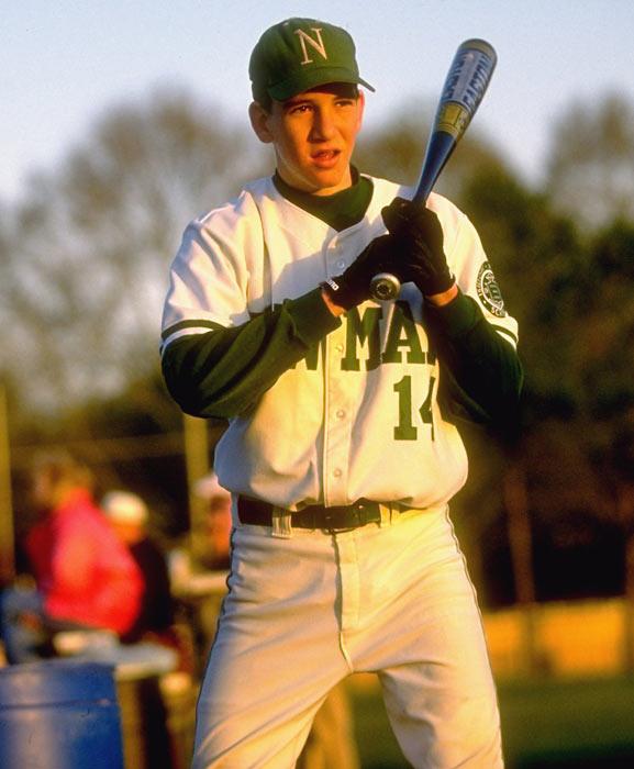 Eli takes an at bat during a Newman High baseball game.