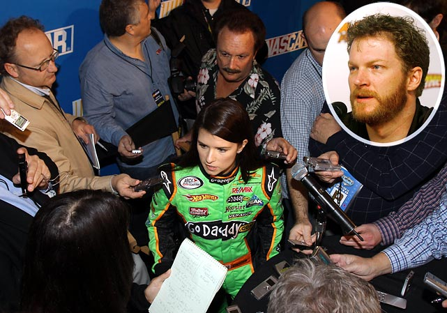 """""""This might be the first time we don't have to weave through cameras and media reporters when walking to our car, because they'll be in Danica's garage. She handles it well, and we'll try to make sure it's not a distraction."""""""