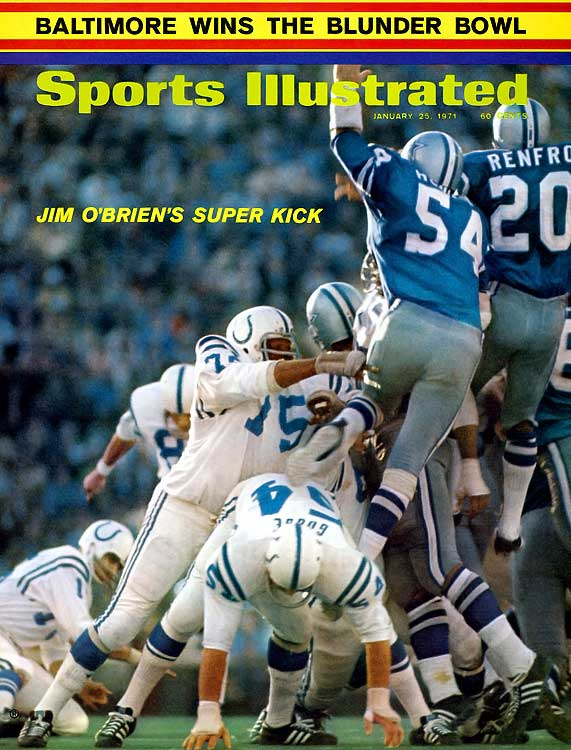 This one may have had a nice finish with rookie kicker Jim O'Brien's field goal winning it as the clock ticked down near the end of the fourth quarter, but the two teams combined for 11 turnovers and 14 penalties in an absolute slopfest. Linebacker Chuck Howley was the game's MVP...in a losing cause.