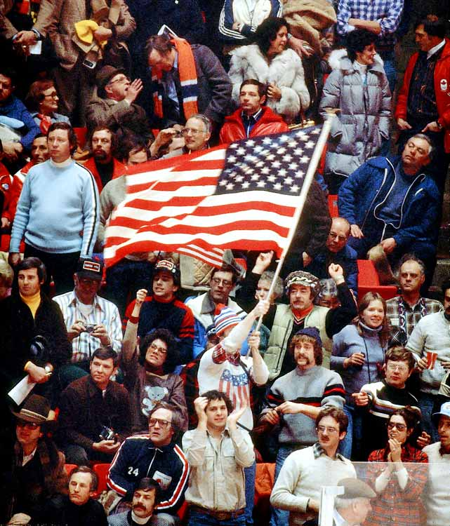 The Field House was packed to capacity (8,500) as many in the home crowd waved American flags throughout the game.