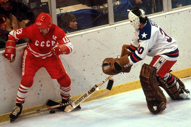 The Soviets were captained by legendary winger Boris Mikhailov, whom Herb Brooks told his players resembled Stan Laurel of the comedy team Laurel and Hardy, in the hopes of removing any fear of facing him.