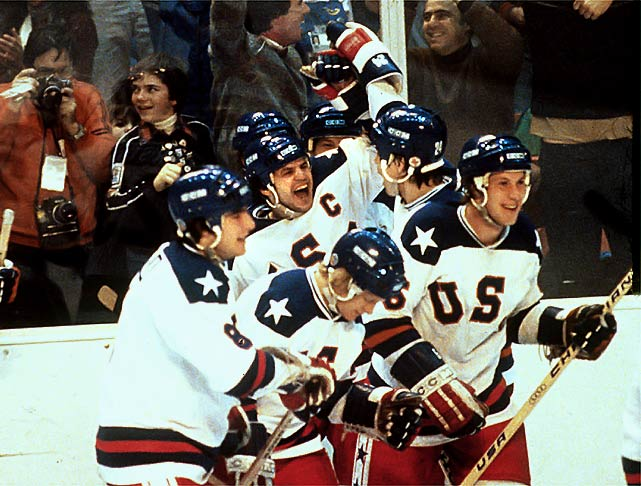 """Eruzione, whose last name means """"eruption"""" in Italian, gave the U.S. team it's first lead against the Soviets with exactly ten minutes left to play."""