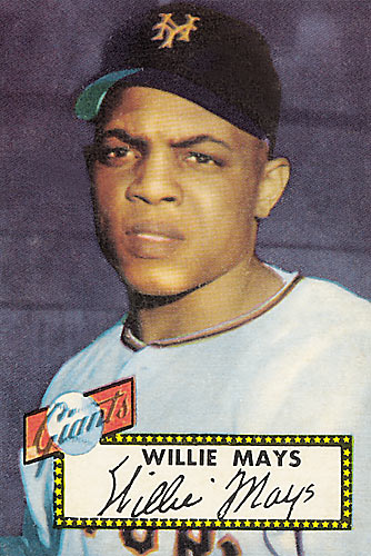 The Mantle card is more famous and more expensive, but Mays' rookie card from 1952 is also worth several thousand dollars.
