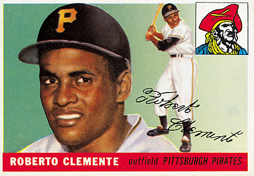 Rookie card for the Hall of Fame Pirates outfielder and hero to millions.