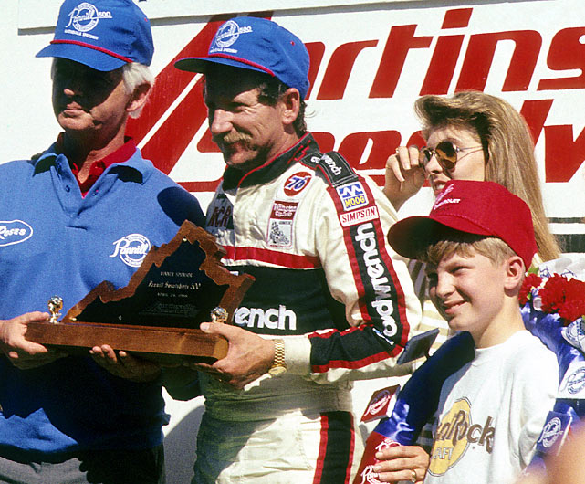 Junior was on hand when his dad took the checkers at Martinsville Speedway in the Pannill Sweatshirts 500.