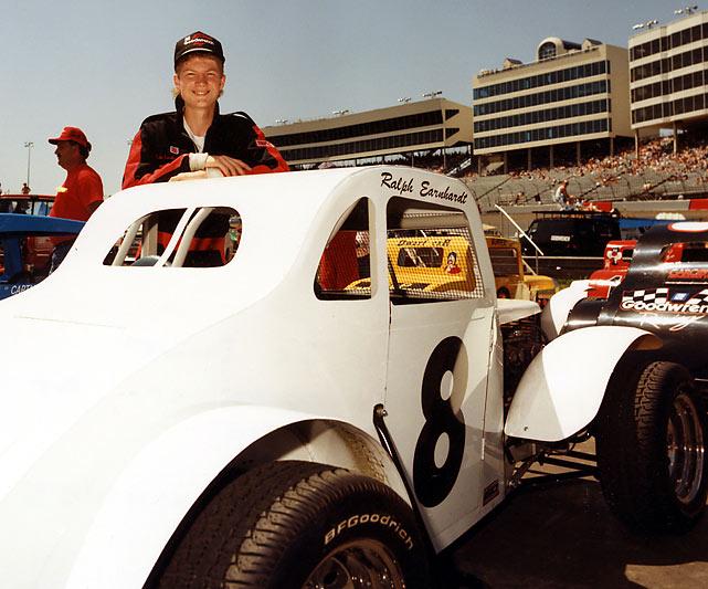 Earnhardt Jr., seen here in 1992 with his Legends car.