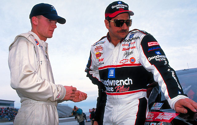 Father and son share a moment before the Miller 500 at Dover International Speedway.