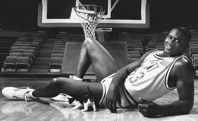 Shaquille O'Neal played three seasons at LSU and recorded career collegiate averages of 21.6 points, 13.5 rebounds and 1.7 assists per game.