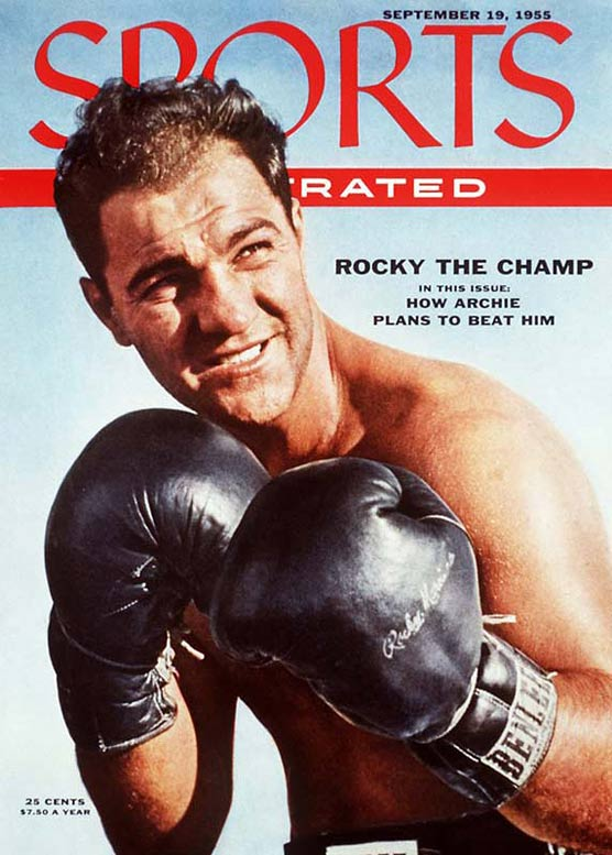 The only heavyweight champion to retire undefeated, Marciano was a bruising puncher seemingly impervious to pain. Often outsized, the Brockton Blockbuster was never outworked.