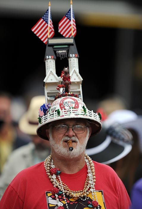 Held every year on the first Saturday in May, the Kentucky Derby is known to attract well-heeled and well-dressed horse racing fans.... some of whom make a sport of donning spectacular hats. Here are some of the best examples.