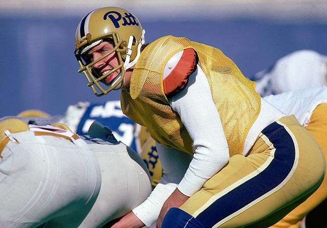 Greatest QB Class ever? Hard to argue with three Hall of Famers, though how the Chiefs, Pats and Jets passed on Dan Marino (pictured) remains one of the NFL's great mysteries. Note, too, that future Saints stalwart Bobby Hebert came out in '83 but went to the USFL and (unlike Jim Kelly) was not part of this stellar draft of John Elway of Stanford (R1, 1, Colts), Todd Blackledge of Penn State (R1, 7, Chiefs), Jim Kelly of Miami (R1, 14, Bills), Tony Eason of Illinois (R1, 15, Patriots), Ken O'Brien of UC-Davis (R1, 24, Jets), and Marino of Pitt (R1, 27, Dolphins).