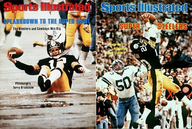 After a 14-2 regular season on the strength of the Steel Curtain defense and MVP quarterback Terry Bradshaw, Pittsburgh blasted Houston and Denver before facing Dallas in the title game. The Steelers won 35-31 and Bradshaw collected Super Bowl MVP honors.