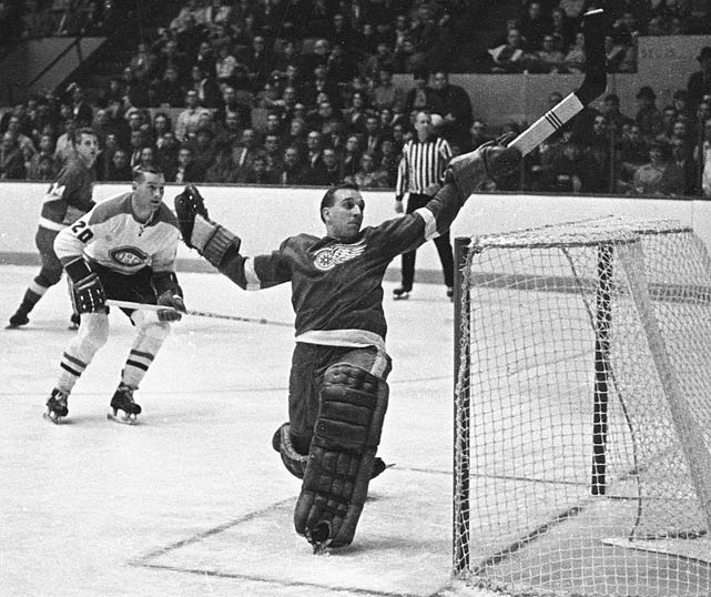 After recovering from an early-season bout of pancreaitis, the sophomore netminder (he won the Calder Trophy as rookie of the year for 1964-65) led the NHL in shutouts (7) and carried the Red Wings past Chicago and into the Stanley Cup Final. Detroit lost to Montreal in six games, but Crozier became the first player awarded the Conn Smythe in a losing cause, after posting a 2.34 GAA in 12 games. Playing on a sprained ankle, he heroically lost Game 4 by a heartbreaking 2-1 score.