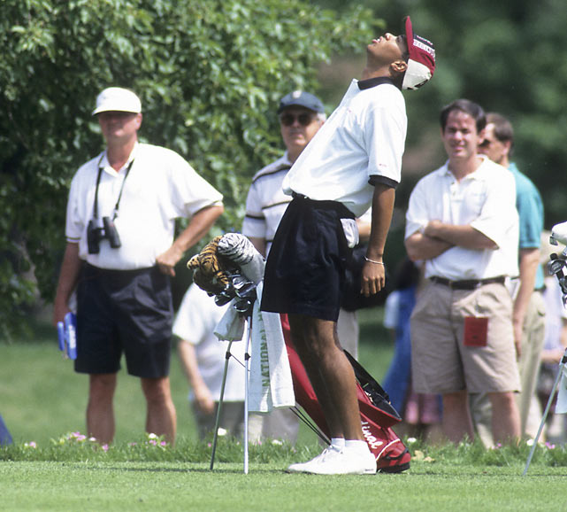 Not every putt went in for Tiger, but he still managed to win the 1996 NCAA championship. He is the only NCAA champion to also win three amateur titles.