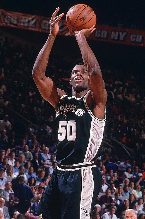 The No. 1 pick in the 1987 NBA Draft, Robinson played all 14 years in San Antonio, racking up more than 20,000 points and winning two championships.