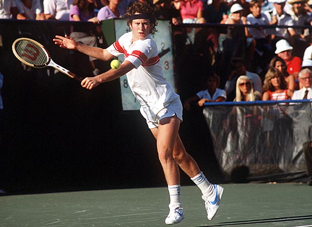 """The original """"Bad Boy of Tennis,"""" McEnroe was a wild force on the court, but also a top player. He won seven Grand Slam singles titles and nine Grand Slam doubles titles."""
