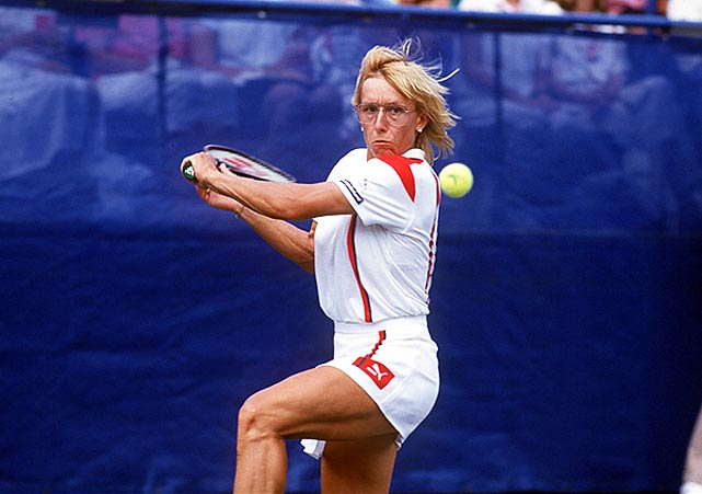 """Billie Jean King called Navratilova the """"greatest singles, doubles and mixed doubles player who's ever lived."""" On top of that, she did it playing left-handed."""
