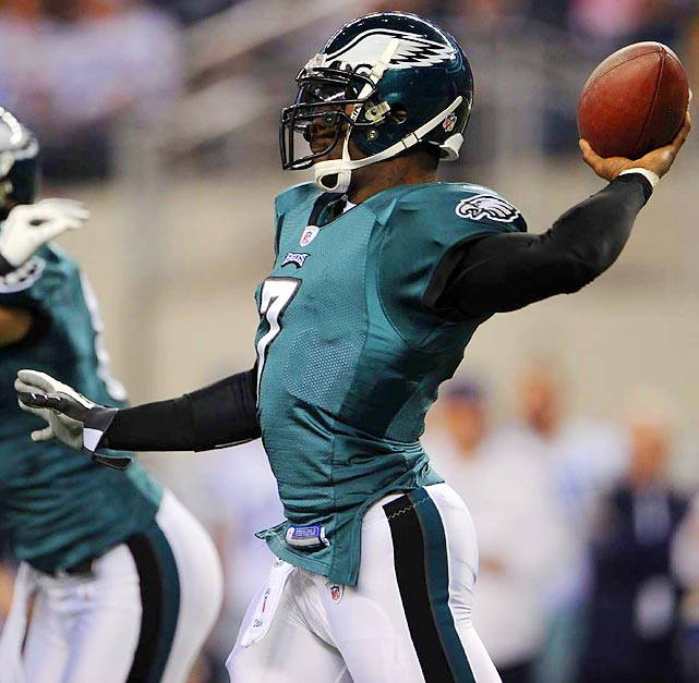 Vick's cannon left arm made him the No. 1 pick in the NFL Draft in 2001, and while legal troubles have tripped him up, the three-time Pro Bowl quarterback still has elite athleticism.