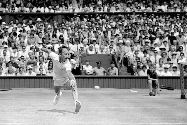 Laver is the only tennis player in history to win all four Grand Slam tournaments in the same year two times. He's so cool, Adidas's Rod Laver sneaker continues to sell today.