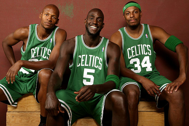 """After the trade, Garnett, Ray Allen and Paul Pierce were immediately dubbed """"The New Big Three"""" in Boston and became one of the favorites to win the 2008 NBA title."""