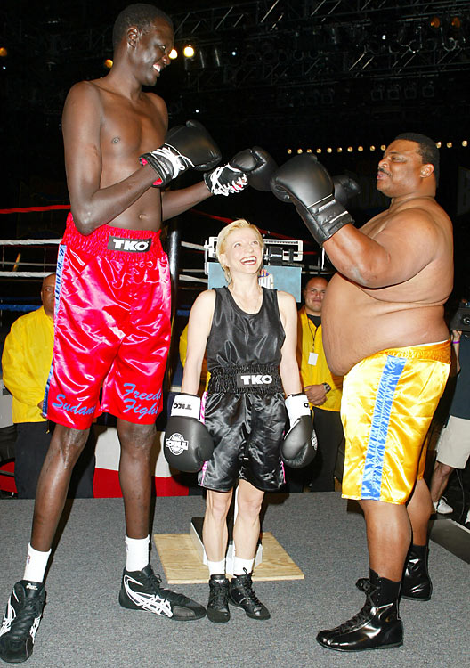 """In his one Celebrity Boxing match, Bol took on former Bears star William """"The Refrigerator"""" Perry. Bol used his 102-inch reach to neutralize Perry and won the fight by unanimous decision."""