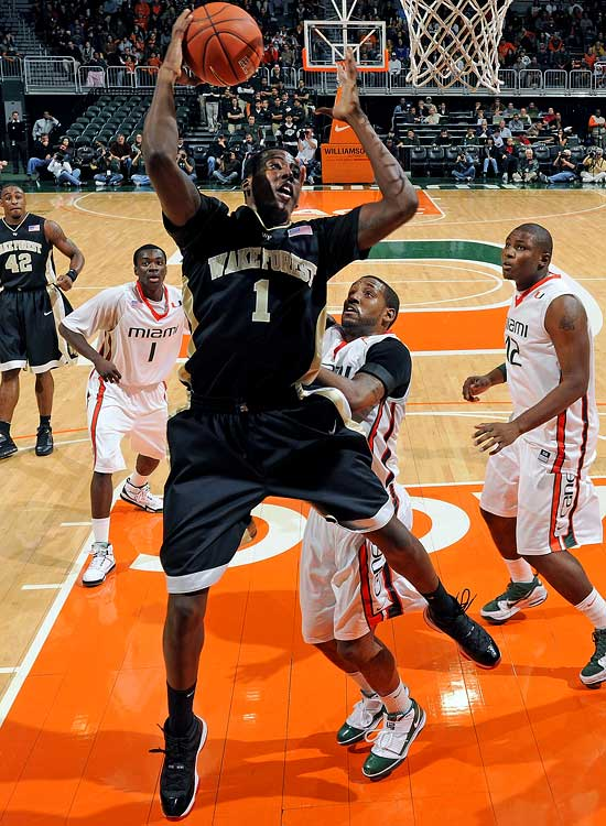 Wake Forest -- Sophomore 19 years old 6-8, 210 pounds  Super athlete who can rebound like a power forward, defend multiple positions and is a terror in transition.
