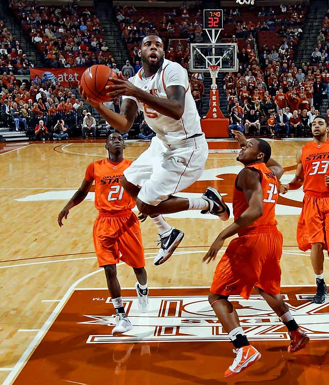 Texas -- Senior 22 years old 6-7, 225 pounds  Tough, aggressive forward with solid offensive ability and outstanding rebounding skills.