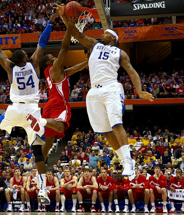 Kentucky -- Freshman 19 years old 6-11, 270 pounds  Terrific back to the basket presence who ranked as a freshman as one of the most productive players seen at the college level in the past decade.