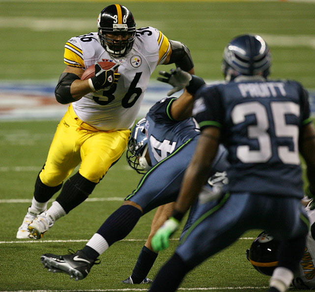"""Detroit's most recent Super Bowl, XL in 2006 at Ford Field, was special for Jerome Bettis. """"The Bus"""" grew up in the city and earned his only NFL championship there, helping the Steelers beat the Seahawks. He retired after the season. Years hosted: 1982, 2006."""