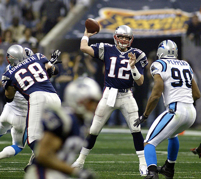Houston's two Super Bowls came 30 years apart, the first in 1974. The most recent featured Tom Brady's Patriots defeating the Panthers in Super Bowl XXXVIII at Reliant Stadium. Years hosted: 1974, 2004.